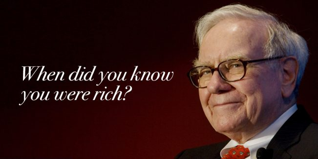 Warren Buffet On Being Rich