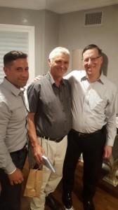 Ari with Yaakov Morgenstern and Amichai Ariel