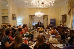 Ari speaking at Olga Lengyel Institute 6.25.18